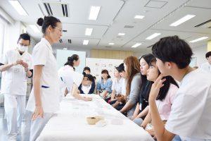 東洋医療学科お灸体験
