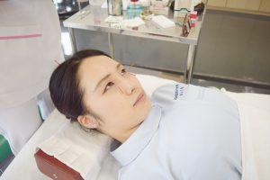 美容鍼灸実演②